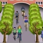 Fahraddemo für Mobilitätswende